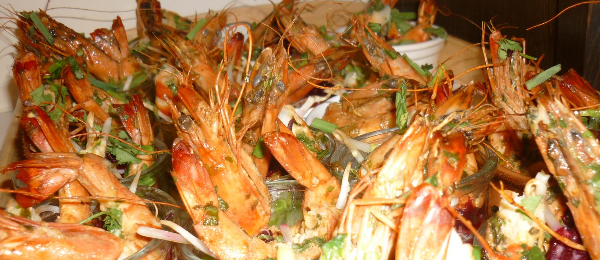 Crevettes saut es l ail persil et au pastis recette - Marinade gambas grillees au barbecue ...